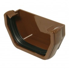 Square Line External Stop End - Brown