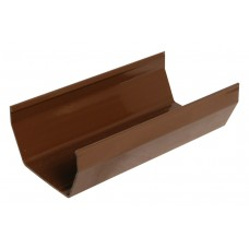Square Line Gutter 2M - Brown