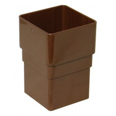 Square Line Downpipe Joiner Socket - Brown