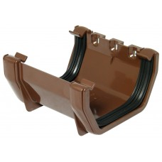 Square Line Gutter Union Bracket - Brown