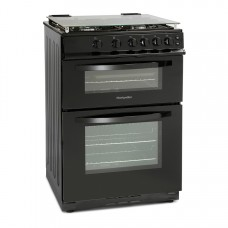Montpellier 60cm Gas Double Oven With Lid Black