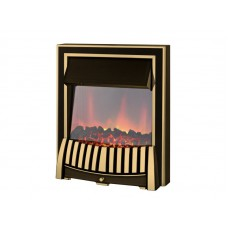 Amethyst Electric Fire in Black/Brass