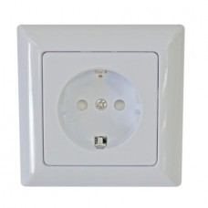 Schuko Single Socket, White