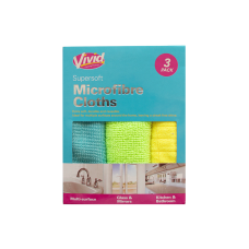 Microfibre Cleaning Cloths - 3 Pack