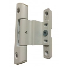 Adjustable Rebated Butt Hinge 9-16mm All-In-One White