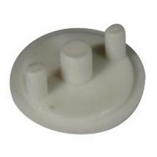 ELLBEE TOP HAT HINGE COVER White