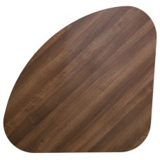 TEARDROP SHAPE TABLE TOP WALNUT