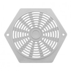 "Plastic Hexagon Vent 2 5/8"" White"
