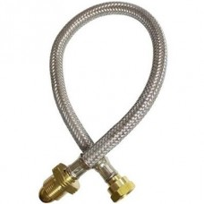 500mm EXF x W20 Overbraided Hose Assembly (Pigtail)