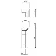 Internal Corner For 50mm Bevelled Skirting White