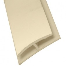 'H' Shaped moulding, SIZE: 28mm x 7mm x 2.4 metre Cream