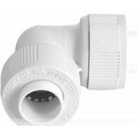 15mm Elbow Connector White