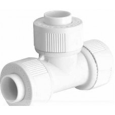 15mm Equal Tee Connector White