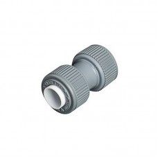 15mm Straight Connector Grey