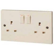 2 Gang Double Socket Beige