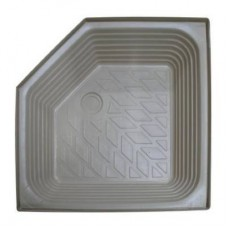 "ATLAS extra deep plastic shower tray with angled corner SIZE: 27"" x 27"" x 8"""