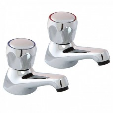 "CHROME BASIN TAPS  1/2"" Pair"