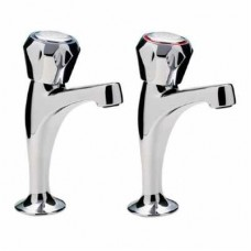 CHROME INCLINED HIGH NECK PILLAR TAPS