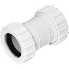 Compression Straight Connector 40mm (1-½ inches) - WHITE
