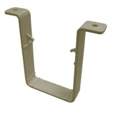 Square Line Downpipe Clip 65mm - Sandstone