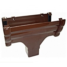 OGEE GUTTER HOPPER BROWN