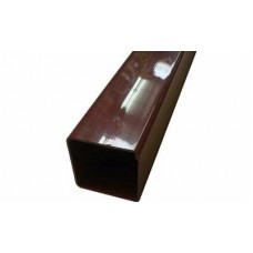 Square Downpipe, 65mm 2.5mtr Length - Brown