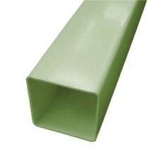 Square Downpipe, 65mm 2.5mtr Length - Quarry Green