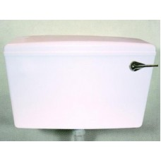 WC Cistern Slimline - White With Side Inlet - Dual Overflow