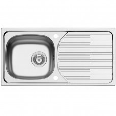 PYRAMIS STAINLESS LINEN SINK ET33 FORK  860mm x 435mm
