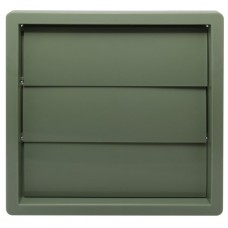 Wall Outlet Gravity Flap 100mm Quarry Green